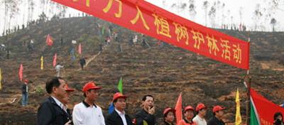 广东宗教界举行万人植树护林活动