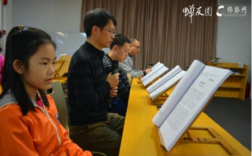 广州素食学校历届大众阅藏活动现场