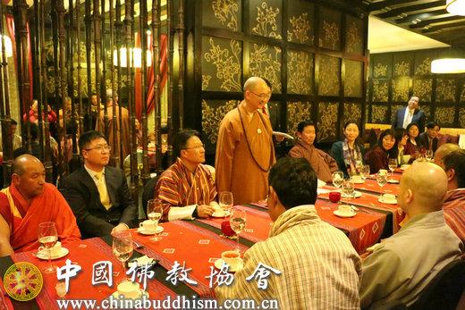 中国佛教协会会长、代表团团长学诚法师在欢迎宴会上致辞