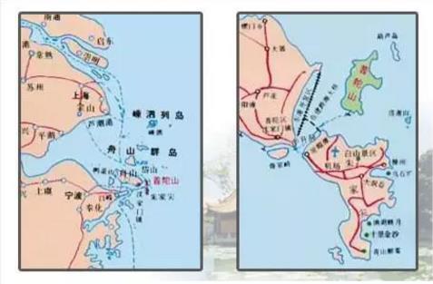 普陀山的地理位置图解|普陀山朝圣