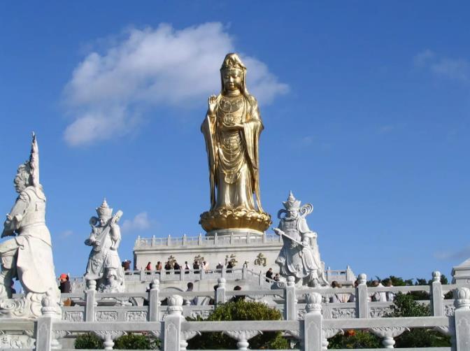 普陀山露天南海观音圣像|佛旅网普陀山朝圣