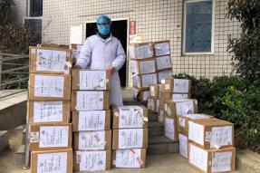 来自地球背面的佛教援助——加拿大灵岩山中华寺救援物资顺利抵达武汉市黄陂区中医医院